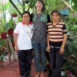 Lydia with her host mother, Teofila Espinoza Nieves, and her sister Noemi, who is married and lives next door.