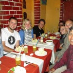 On Sunday, we enjoyed lunch in the center of town with all six Cusco area students.