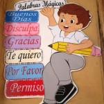 Palabras Magicas, or Magic Words, posted in Abby's classroom.
