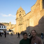 Duane and Willy by a church near the center of Cusco.