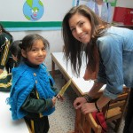 Maddie poses with a student in her classroom at Promesa school in San Jeronimo.