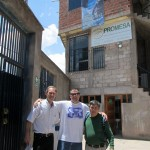 Duane and Willy pose at Promesa with Chris Raber a missionary serving in the Cusco area with his family.