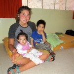 Elizabeth holds two children from the Casa Luz orphanage in Ayacucho.