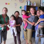 Mariah, Elizabeth and one of the 'tias' who works with the children at Casa Luz orphanage.