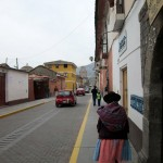 Walking along the streets of Ayacucho.