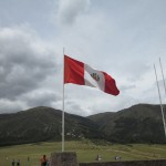 The Peruvian flag waves grandly above the grounds where the battle for independence took place.