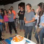 Singing to Max and Maddie, who celebrated birthdays in Cusco.