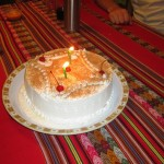 A tres leches cake for Laura.