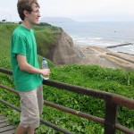 Christian takes a moment to admire the view of the Pacific Ocean.