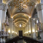 Lima's main cathedral has a central nave with two side aisles and 13 chapels.