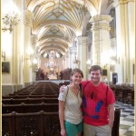 Joanna and Ammon in Lima's main cathedral.