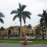 The City hires workers to keep Lima's Plaza Mayor extremely clean.