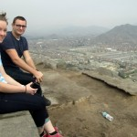 Courtney and Ike pose while enjoying the view of Lima.