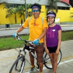 Christian and Eva, Elizabeth's host dad and sister, biked from their San Borja home!