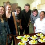 The causa group poses in front of their individual creations with Chef Alicia.