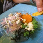 A serving of ceviche in Chancay.