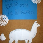 Micah created a llama for a 'pin the tail on the llama' game.