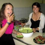 Lea and Maria prepare Maria's family recipe for guacamole.