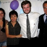Ammon with host sister, Gloria, and host parents, Norma and Carlos.
