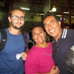 Ike's host parents, Cecilia and Eduardo, brought him to the bus station.