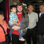 Ammon's host family, along with Duane, pose for a photo before he leaves for Ayacucho.