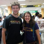 Micah and Lea at the airport Saturday morning before leaving for Cusco.