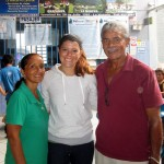 Maria with host mom, Charo, and host dad, Juan, at the La Merced bus station.