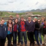 A group photo at Saqsayhuaman.