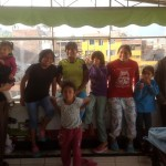 Some of the 21 children who live at Casa Luz.