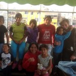 """Ammon works at Casa Luz five days a week. One of the """"Tias"""" (in front) grew up at Casa Luz and now helps out."""