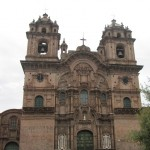 Iglesia de la Compania de Jesus (Church of the Society of Jesus) sits prominently along the Plaza de Armas.