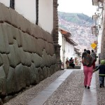 Walking the narrow streets of central Cusco.