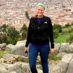Joanna poses above Cusco at the Q'enqo site.