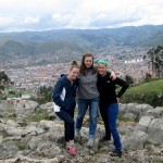 Courtney, Liz and Jo above Cusco city.