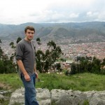 Micah stands overlooking Cusco city.