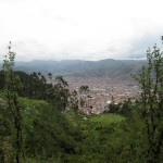 Cusco city, from a distance.