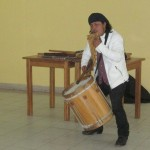 Americo (Amaru) Mejia Suñiga can play several instruments at once.