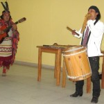 Americo (Amaru) Mejia Suñiga and his fellow musician.