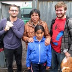 Ike and Ammon with their host family in Huacarpay.