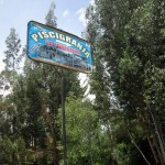 The trout farm is called a piscigranja.