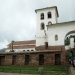 The adobe church in Chinchero sits on the site of a former Incan temple.