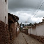 One of the narrow streets in Chinchero.