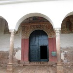 The door to the colonial church in Chinchero. Photos inside the church are forbidden.