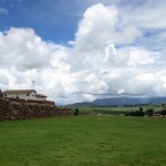 A view from the church grounds in Chinchero, to the mountains beyond.