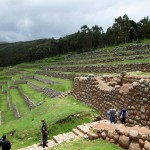 Walking down to the terraces in Chinchero.
