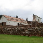 Another view of the church in Chinchero, from below.