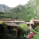 Up above our hostal is the colca site we will climb to tomorrow.