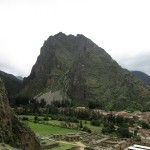 A view from the Incan terraces of Pumatallis at Ollantaytambo.