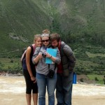 Jo, Liz and Ammon at the Temple of the Sun.
