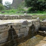 Some of the many sacred fountains at the base of the terraces in Ollantaytambo.